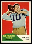 1960 Fleer #50  Kenneth Ford  Front Thumbnail