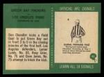 1966 Philadelphia #91   -  Don Chandler Green Bay Packers Back Thumbnail