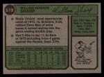 1974 Topps #519  Bill Sharp  Back Thumbnail