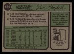 1974 Topps #556  Dave Campbell  Back Thumbnail