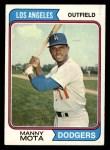 1974 Topps #368  Manny Mota  Front Thumbnail