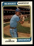 1974 Topps #554  Tim Johnson  Front Thumbnail