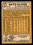 1968 Topps #124  Nate Oliver  Back Thumbnail