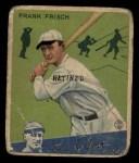 1934 Goudey #13  Frankie Frisch   Front Thumbnail