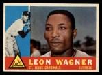1960 Topps #383  Leon Wagner  Front Thumbnail