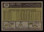 1961 Topps #155  Johnny Temple  Back Thumbnail