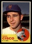 1963 Topps #93  Galen Cisco  Front Thumbnail