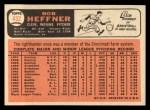 1966 Topps #432 NRM Bob Heffner  Back Thumbnail