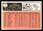 1966 Topps #21  Don Nottebart  Back Thumbnail