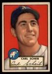 1952 Topps #116 xBRK Carl Scheib  Front Thumbnail