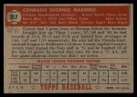 1952 Topps #317  Connie Marrero  Back Thumbnail