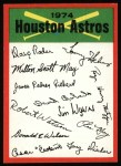 1974 Topps Red Team Checklist   Astros Team Checklist Front Thumbnail