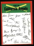 1974 Topps Red Team Checklist   Angels Team Checklist Front Thumbnail