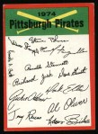 1974 Topps Red Team Checklist   Pirates Team Checklist Front Thumbnail