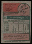 1975 Topps #95  John Mayberry  Back Thumbnail