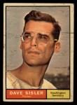 1961 Topps #239  Dave Sisler  Front Thumbnail