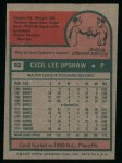 1975 Topps #92  Cecil Upshaw  Back Thumbnail