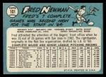 1965 Topps #101  Fred Newman  Back Thumbnail