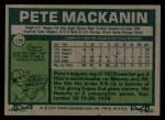 1977 Topps #156  Pete Mackanin  Back Thumbnail