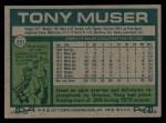 1977 Topps #251  Tony Muser  Back Thumbnail