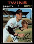 1971 Topps #500  Jim Perry  Front Thumbnail