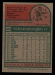 1975 Topps #323  Fred Holdsworth  Back Thumbnail