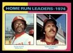 1975 Topps #307   -  Mike Schmidt / Rich Allen HR Leaders   Front Thumbnail