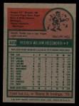 1975 Topps #323  Fred Holdsworth  Back Thumbnail