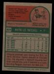 1975 Topps #326  Wayne Twitchell  Back Thumbnail