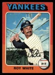 1975 Topps #375  Roy White  Front Thumbnail