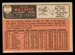 1966 Topps #171  Nick Willhite  Back Thumbnail