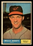 1961 Topps #256  Billy Hoeft  Front Thumbnail