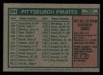 1975 Topps Mini #304   -  Danny Murtaugh Pirates Team Checklist Back Thumbnail