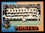 1975 Topps Mini #304   -  Danny Murtaugh Pirates Team Checklist Front Thumbnail