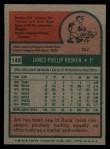 1975 Topps #148  Jim Rooker  Back Thumbnail