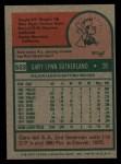 1975 Topps #522  Gary Sutherland  Back Thumbnail