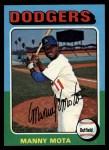 1975 Topps #414  Manny Mota  Front Thumbnail