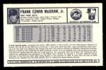 1973 Kellogg's #21  Tug McGraw  Back Thumbnail