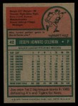1975 Topps #42  Joe Coleman  Back Thumbnail