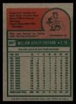 1975 Topps #397  Bill Freehan  Back Thumbnail
