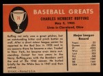 1961 Fleer #74  Red Ruffing  Back Thumbnail