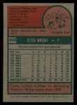 1975 Topps #408  Clyde Wright  Back Thumbnail
