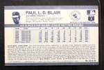 1971 Kellogg's #35  Paul Blair   Back Thumbnail