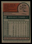 1975 Topps #583  Andy Etchebarren  Back Thumbnail