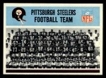 1966 Philadelphia #144   Steelers Team Front Thumbnail