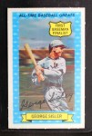 1972 Kellogg All Time Greats #5  George Sisler  Front Thumbnail