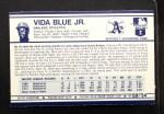 1972 Kellogg's #9 ERR Vida Blue  Back Thumbnail
