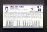 1972 Kellogg's #13 ERR Jim Palmer  Back Thumbnail