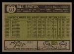 1961 Topps #251  Bill Bruton  Back Thumbnail
