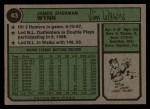 1974 Topps #43  Jim Wynn  Back Thumbnail